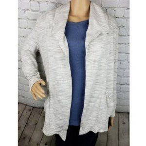 Lucy Open Front Beige Speckled Tan Cardigan